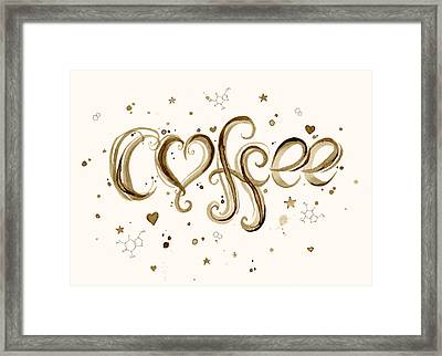 I Love Coffee Framed Print