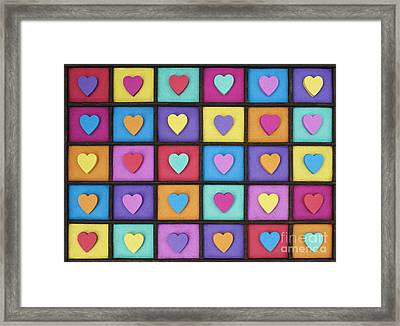 I Love Colour Framed Print by Tim Gainey
