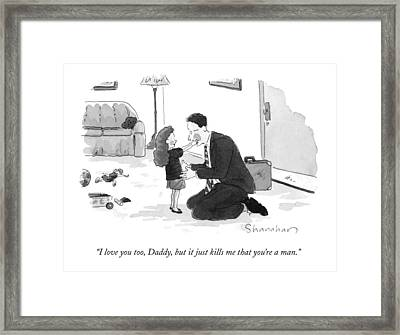 I Love Framed Print by Danny Shanahan
