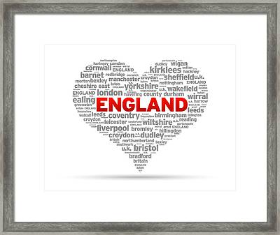 I Love England Framed Print