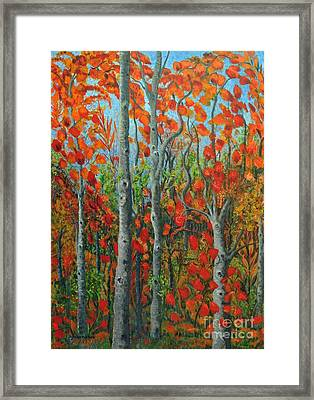 I Love Fall Framed Print