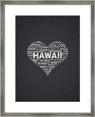 I Love Hawaii Framed Print by Aged Pixel