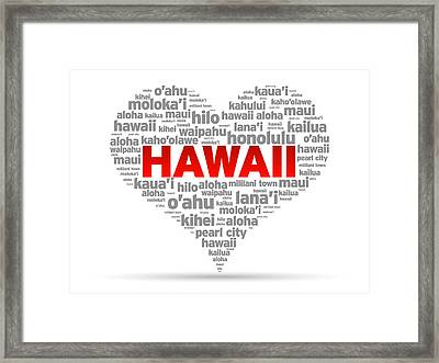 I Love Hawaii Framed Print
