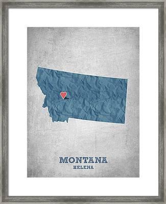I Love Helena Montana - Blue Framed Print