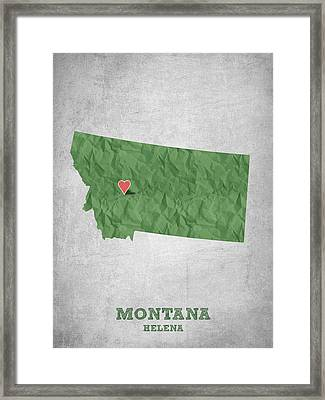 I Love Helena Montana - Green Framed Print by Aged Pixel