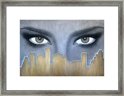 I Love Houston Framed Print