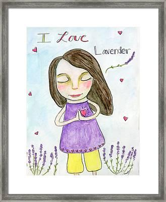I Love Lavender Framed Print