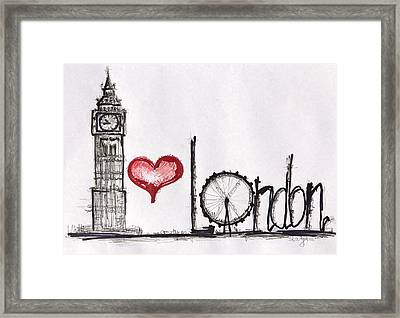 I Love London Framed Print