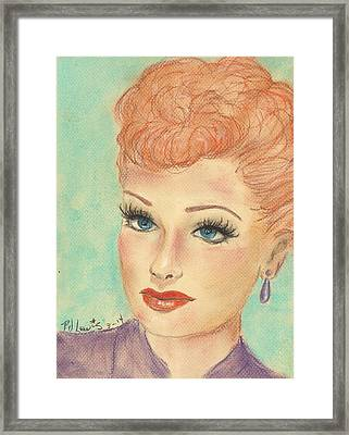 I Love Lucy Framed Print by P J Lewis