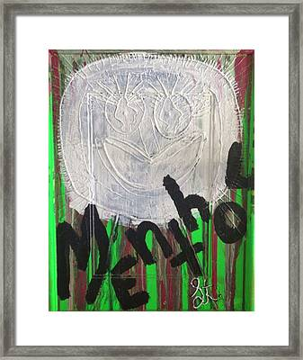 I Love Menthol Smokes Framed Print by Lisa Piper