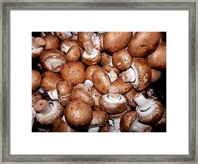 I Love Mushrooms Framed Print