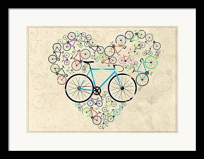 Bicycle Race Framed Prints