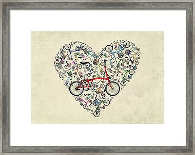 I Love My Brompton Framed Print by Andy Scullion