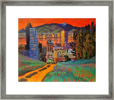 I Love New York City Jazz Framed Print by Art James West