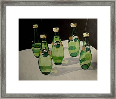 I Love Perrier - Conceptual Still Life Painting - Ai P. Nilson Framed Print
