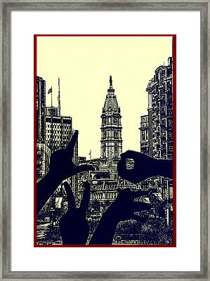 I Love Philly Framed Print by Bill Cannon