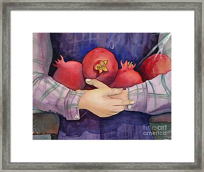 I Love Pomogranates Framed Print by Shirin Shahram Badie