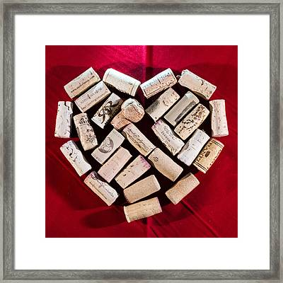 I Love Red Wine - Square Framed Print by Photographic Arts And Design Studio