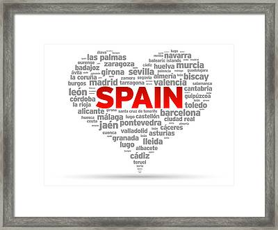 I Love Spain Framed Print