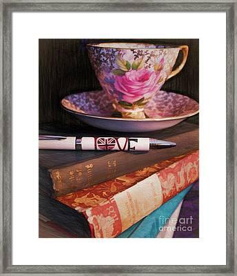 I Love Tea Framed Print by Gillian Singleton