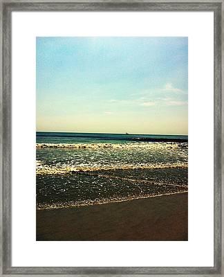 I Love The Beach Framed Print