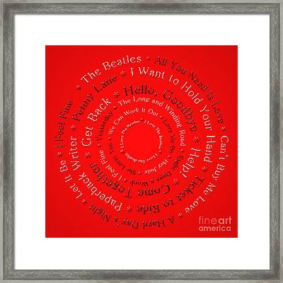 I Love The Beatles 1 Framed Print