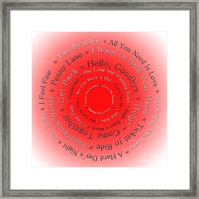 I Love The Beatles 3 Framed Print