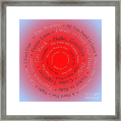 I Love The Beatles 5  Framed Print by Andee Design