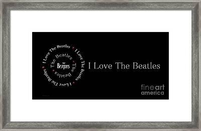 I Love The Beatles Panorama Framed Print