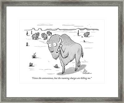 I Love The Convenience Framed Print by Leo Cullum