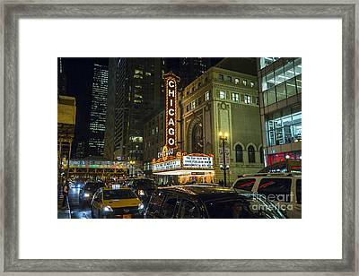 I Love The Nightlife State Street Chicago Framed Print by Linda Matlow
