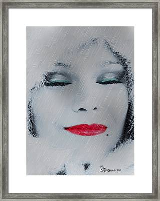 I Love To Smell Fresh Rain Framed Print by EricaMaxine  Price