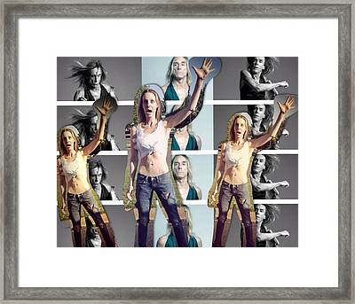 I Love U Iggy Pop Framed Print by Lisa Piper