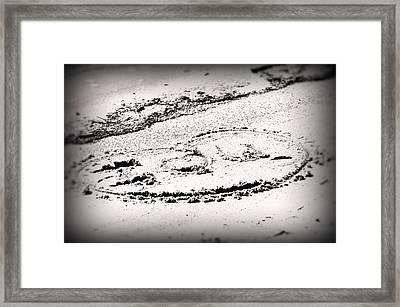 I Love  U Framed Print by John Blanchard