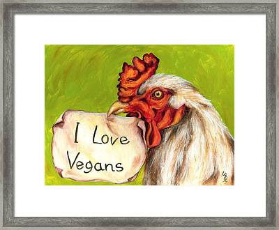 I Love Vegans Framed Print