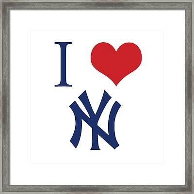 I Love Yankees Framed Print