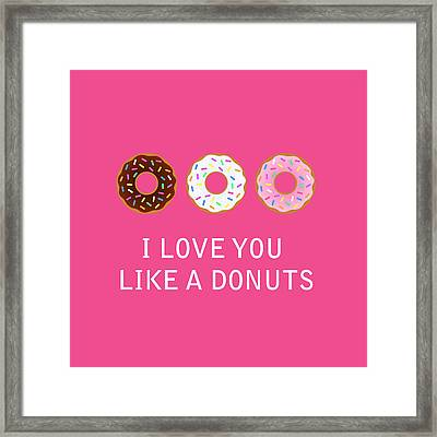 I Love You 7 Framed Print