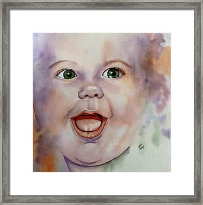 I Love You Baby Framed Print