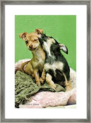 Framed Print featuring the photograph I Love You Bro by Kenny Francis