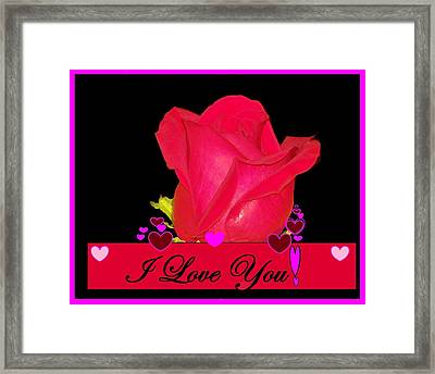 I Love You Framed Print by Cathy Long