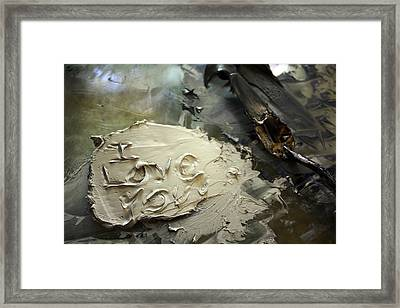 I Love You Framed Print by Courtney Kenny Porto