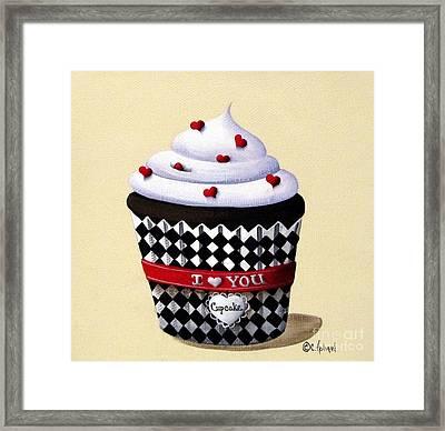 I Love You Cupcake Framed Print