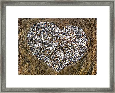 I Love You Framed Print by Hannes Cmarits