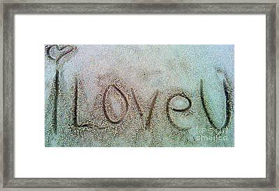 I Love U Framed Print by Janice Westerberg