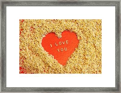 I Love You Framed Print by Lars Ruecker