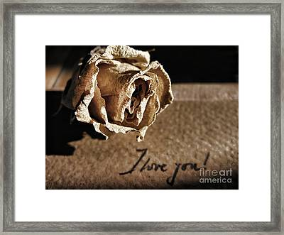 I Love You Letter Framed Print