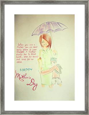 Mother's Day- I Love U Mom Framed Print by Tanmay Singh