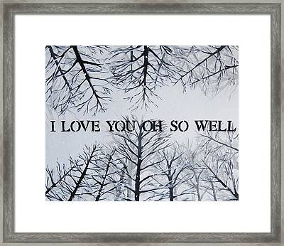 I Love You Oh So Well Dmb Painting Framed Print