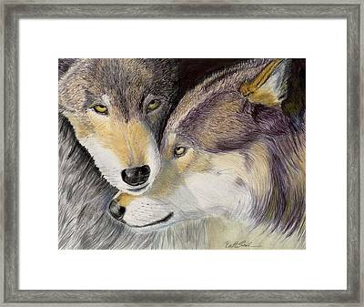 I Love You Framed Print by Ruth Seal