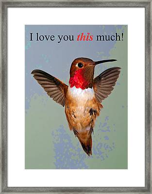 Framed Print featuring the photograph I Love You This Much by Gregory Scott